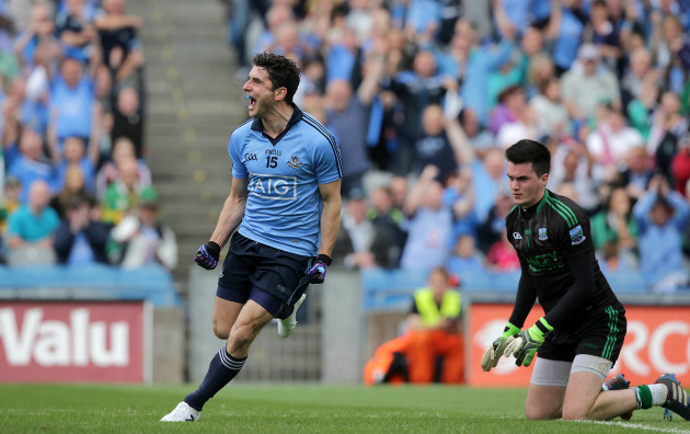 Bernard Brogan celebrates scoring a goal