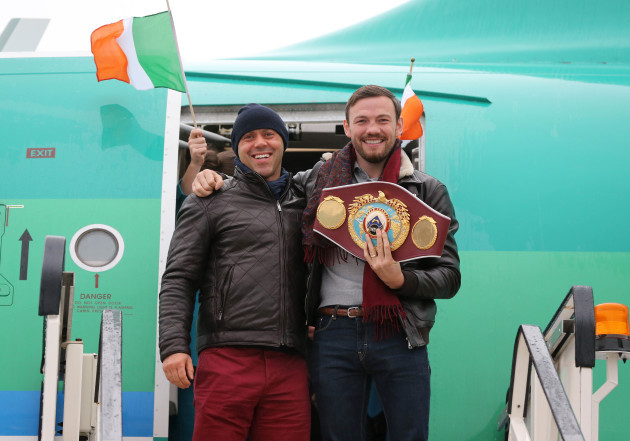 Andy Lee with Adam Booth