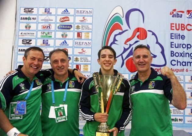 Michael Conlan celebrates with his Boxer of the Tournament Award
