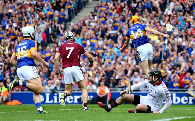 Seamus Callanan celebrates scoring