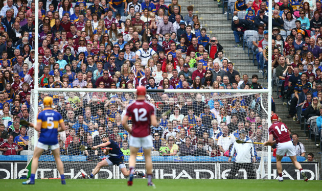 Darren Gleeson saves a penalty