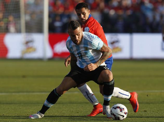 Chile Soccer Copa America Chile Argentina