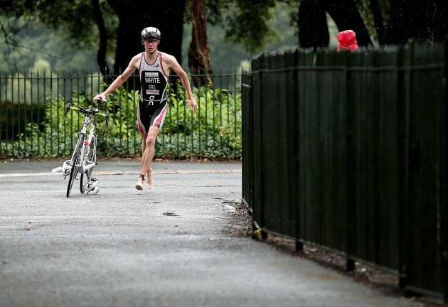 Russell White on his way to winning the Vodafone Dublin City Triathlon