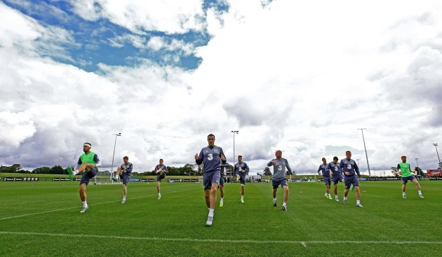 A view from Republic of Ireland training today