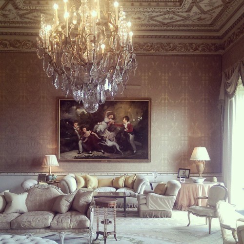 The Gold Room at @ballyfindemesne. We're leaving shortly, sadly - it's such a beautiful property.