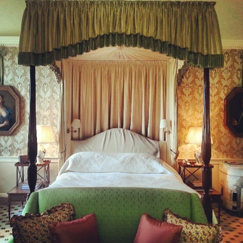My Downton Abbey room for the night in #ireland. #luxury at Ballyfin.