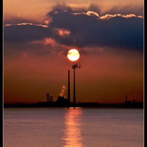 #dublin #sunset #beautiful sunset in Dublin.