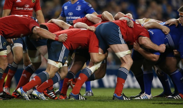 Uncontested scrum with MunsterÕs Paul O'Connell in the front row