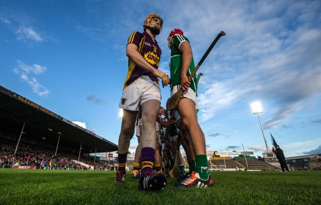 imerick and Wexford during the respect hand shake