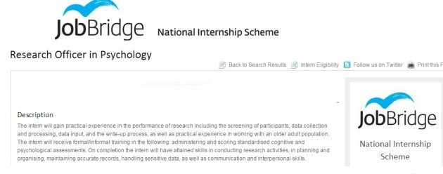 I\'ve studied for years, so why does JobBridge advertise for the ...