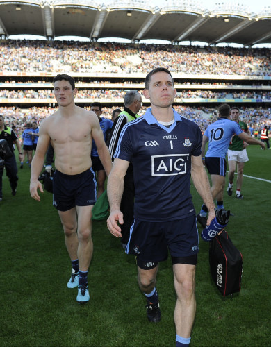 Stephen Cluxton and Diarmuid Connolly after the game