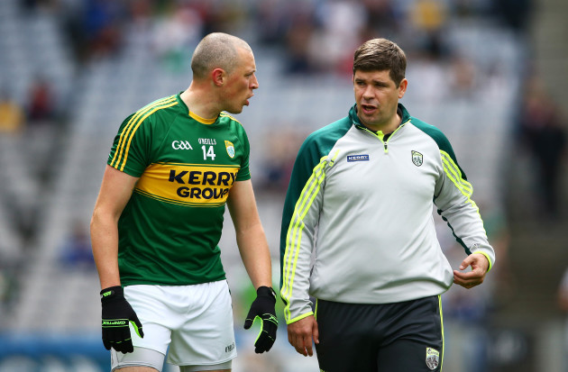 Kieran Donaghy chats with Eamon Fitzmaurice