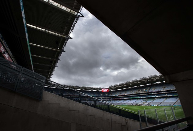 A view of Croke Park before today's finals