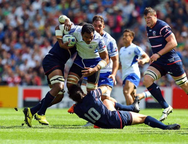 Rugby Union - Rugby World Cup 2015 - Pool B - Samoa v USA - Brighton Community Stadium