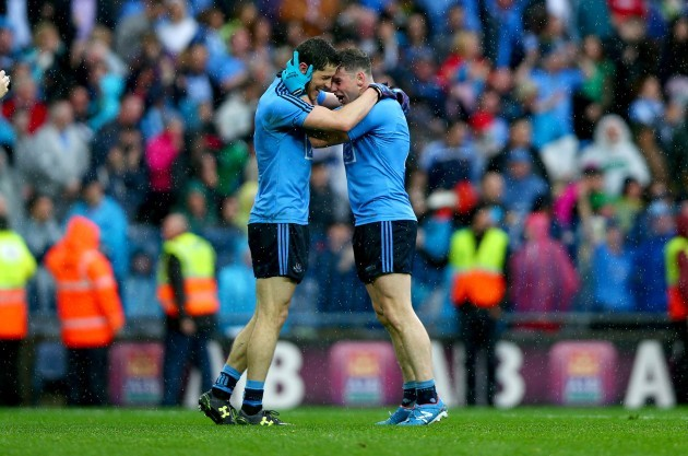 Rory O'Carroll and Philly McMahon celebrate