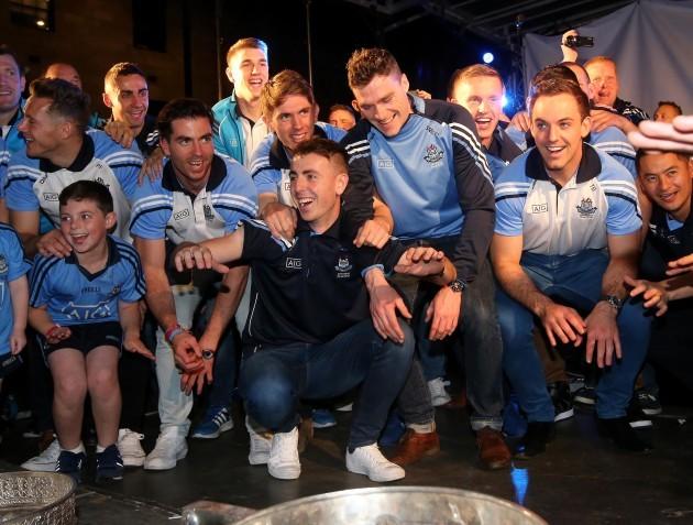 Dublin players celebrate