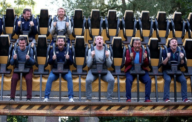 Ireland players at Alton Towers today