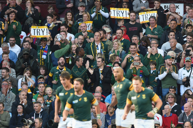 Rugby Union - Rugby World Cup 2015 - Pool B - South Africa v Samoa - Villa Park