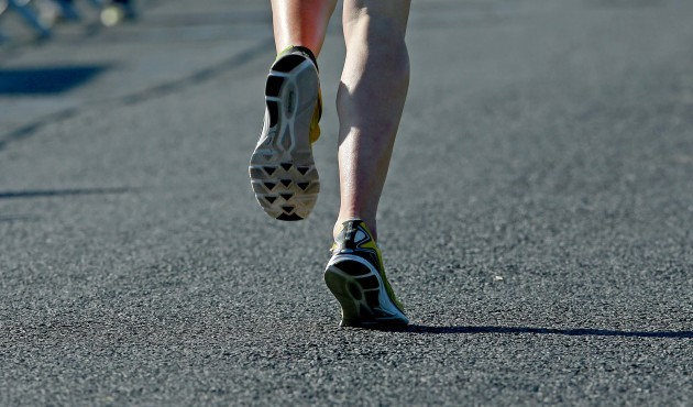 A view of an athlete in the run section