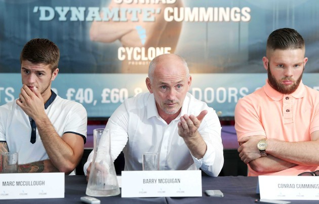 Marc McCullough, Barry McGuigan and Conrad Cummings
