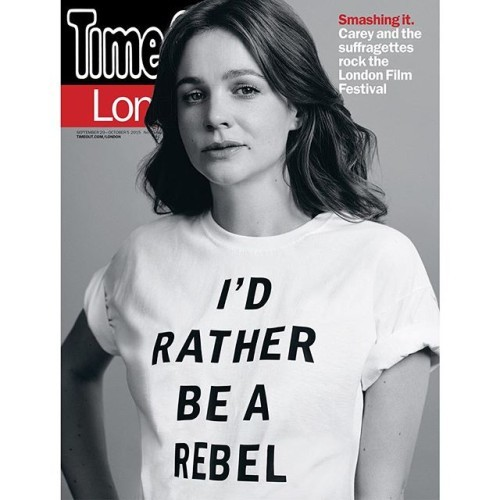 #careymulligan cover star of this weeks @timeoutlondon. #suffragette