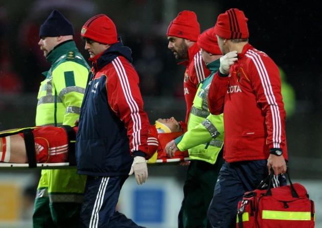 Felix Jones is stretchers off injured
