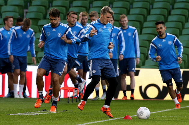 Soccer - UEFA Euro 2016 - Qualifying - Group D - Republic of Ireland v Germany - Germany Training Session - Aviva Stadium