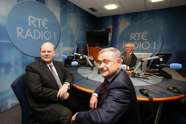 14/10/2015. RTE 1 - Budget interview. Pictured (Lt