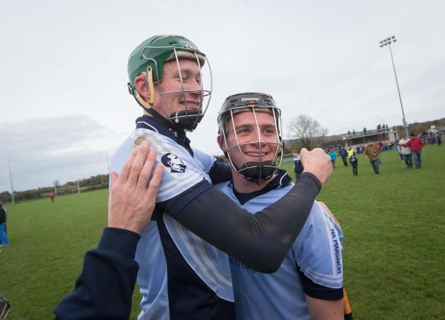 Will O'Donoghue and Peter Casey celebrate