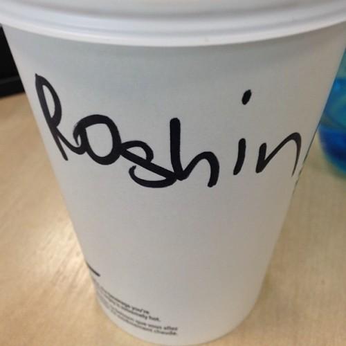 Happy Monday! #roisin #irishnames #irishproblems #irish #starbucks #starbucksproblems #starbucksnames #coffee #monday