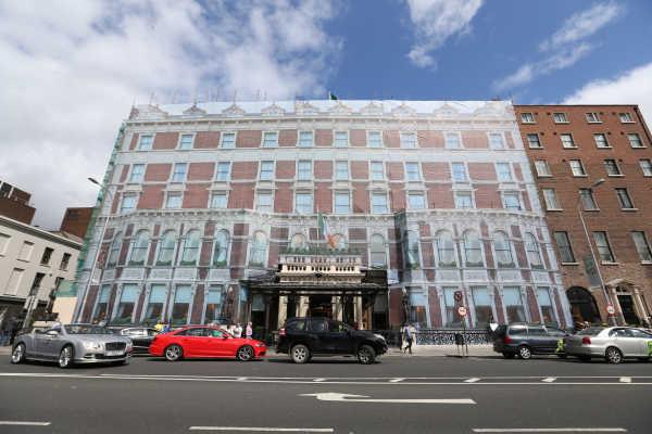 The Under Renovation Shelbourne Hotel In Dublin