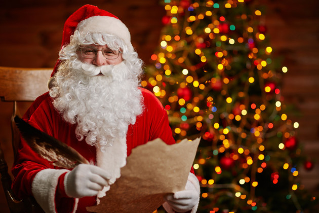 Santa shows us his favourite letters from irish children santas favourite letters spiritdancerdesigns Image collections