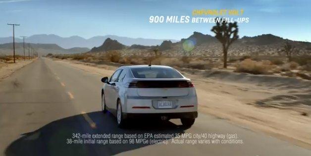Chevrolet Volt commercial in a desert