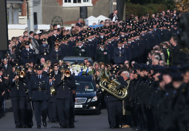 Garda Tony Golden funeral