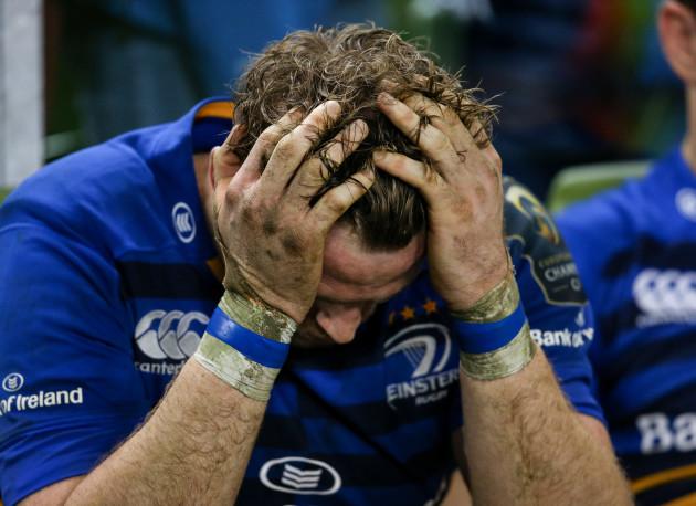 Jamie Heaslip dejected after the match