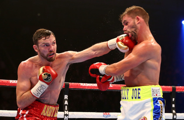 Andy Lee in action against Billy Joe Saunders