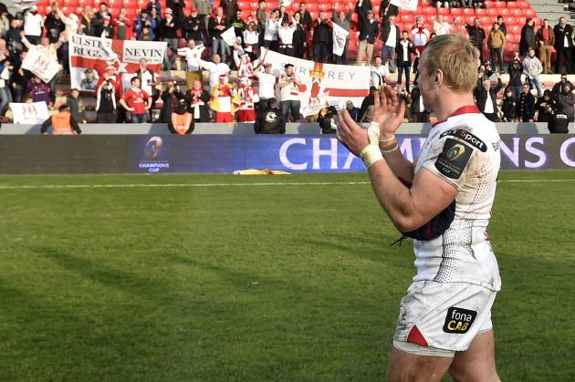 Luke Marshall celebrates winning