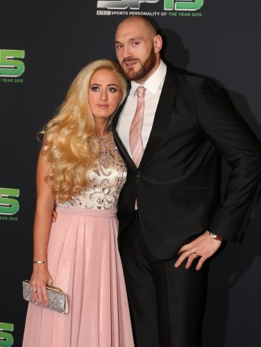 Tyson Fury with his wife Paris Fury