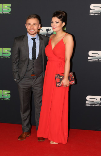 Carl Frampton with his wife Christine Frampton