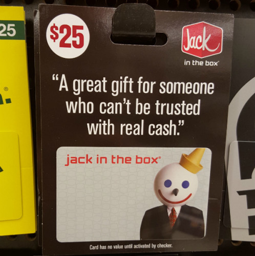 a fast food place was brutally honest with this year 39 s christmas gift card message. Black Bedroom Furniture Sets. Home Design Ideas