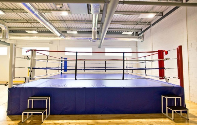 A view of the boxing ring