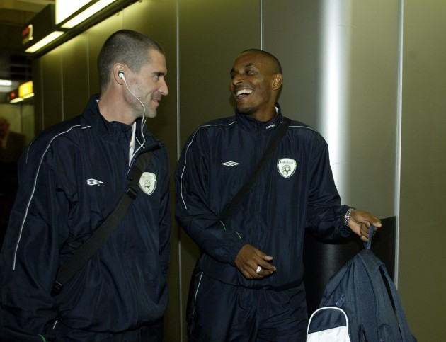 Roy Keane and Clinton Morrison 7/10/2004