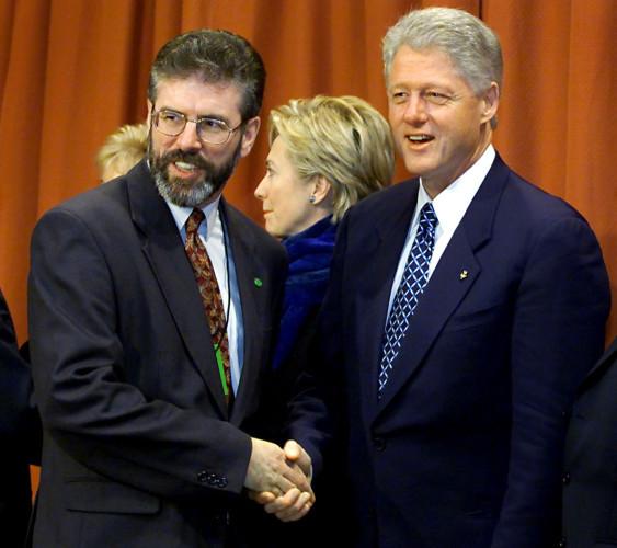 Dublin Clinton visit Adams