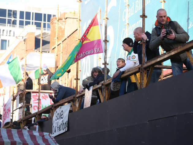 8/1/2016.Some of the protesters that have occupied