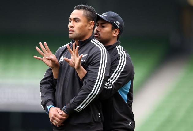 Francis Saili and Julian Savea