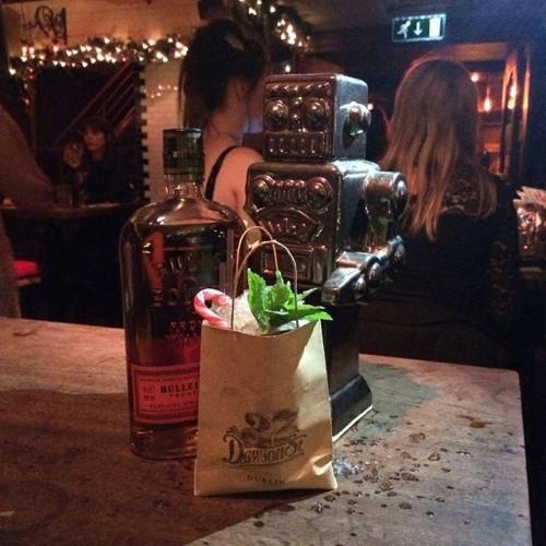 @37dawsonstreet Xmas cocktail Fairytale in New York, Bulleit bourbon, rugby port, sweet vermouth & Angostura. #Bulleit #reserveba #fairytaleinnewyork