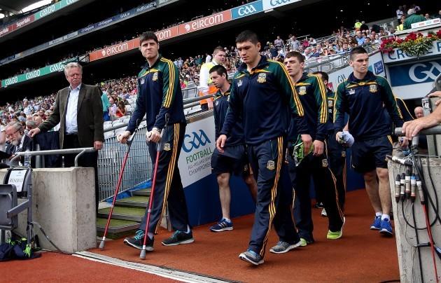Conor Gillespie on crutches