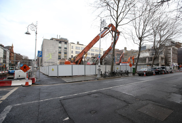 21/01/2016. Demolition of Building on Dawson Stree