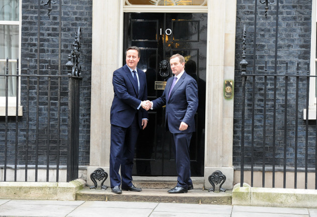 Prime Minister David Cameron and Taoise