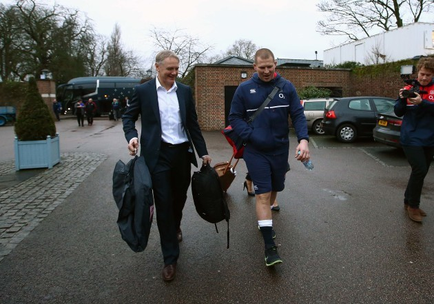 Joe Schmidt and Dylan Hartley arrive